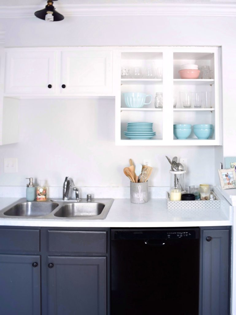 How To Paint Kitchen Countertops As Faux Marble Diy Darlin